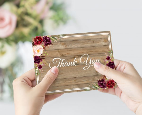 Country Blooms Thank You Card