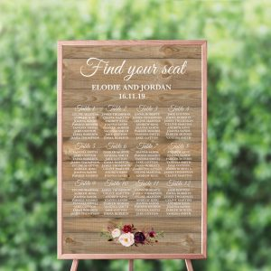 Country Blooms Seating Chart