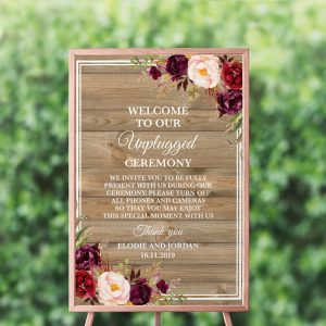 Country Blooms Unplugged Sign