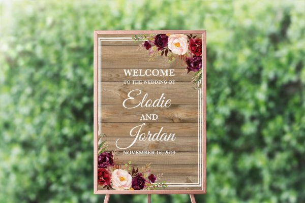Country Blooms Welcome Sign