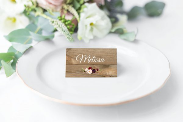 Country Blooms Place Cards