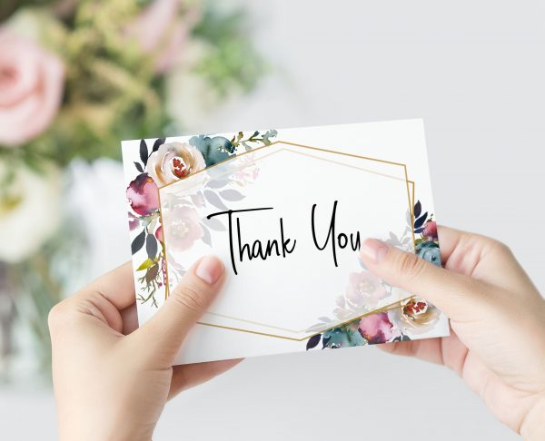 Dusty Posies Thank You Card
