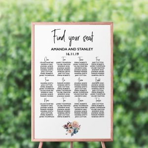 Dusty Posies Seating Chart