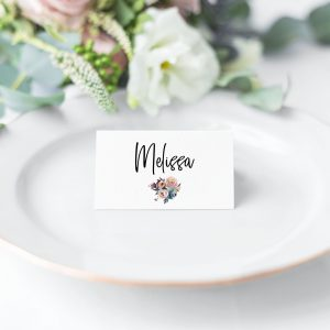 Dusty Posies Place Cards