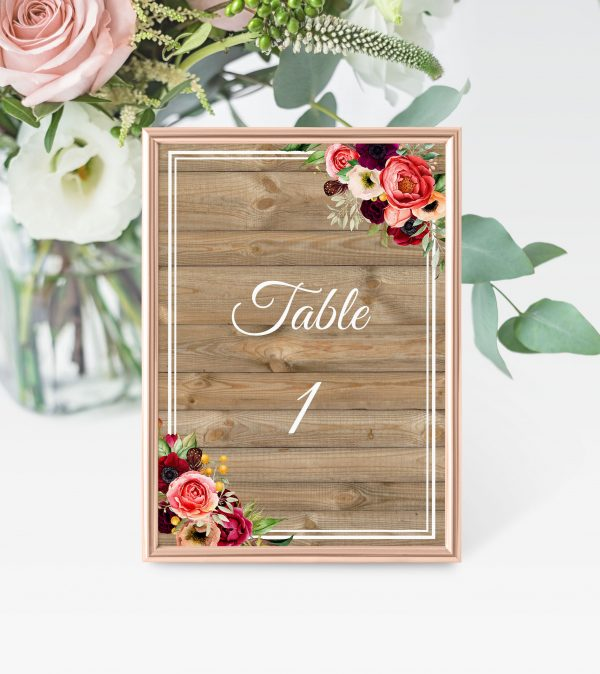 Forever Lover Table Numbers