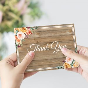 Golden Hour Thank You Card