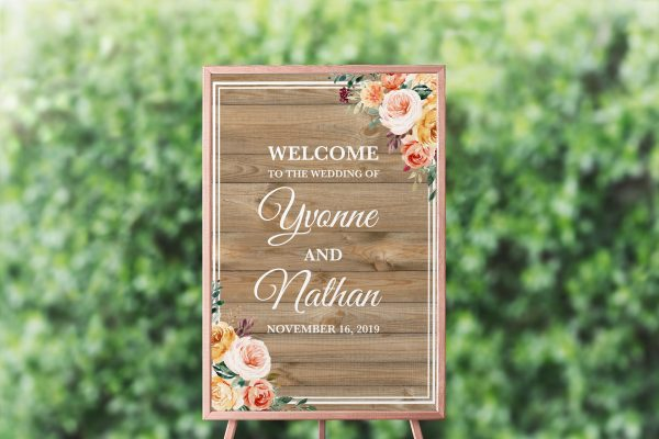 Golden Hour Welcome Sign