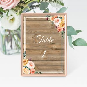 Golden Hour Table Numbers