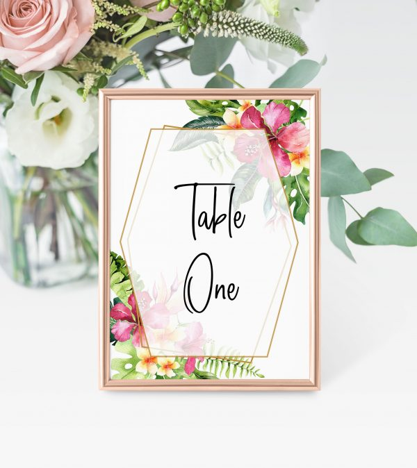 Mahalo Table Numbers