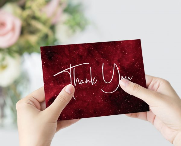 Nebula Thank You Card