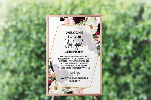 Plum Posies Unplugged Sign
