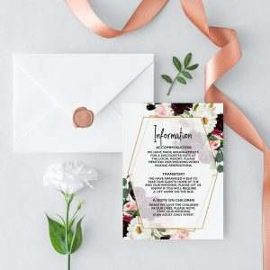 Plum Posies Information Card