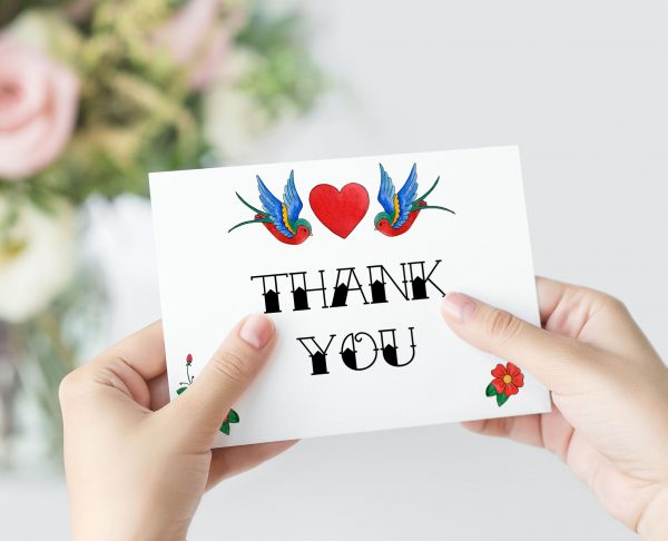 Rockabilly Thank You Card