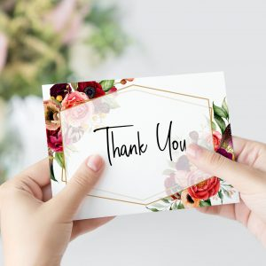 Summer Posies Thank You Card