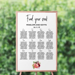 Summer Posies Seating Chart