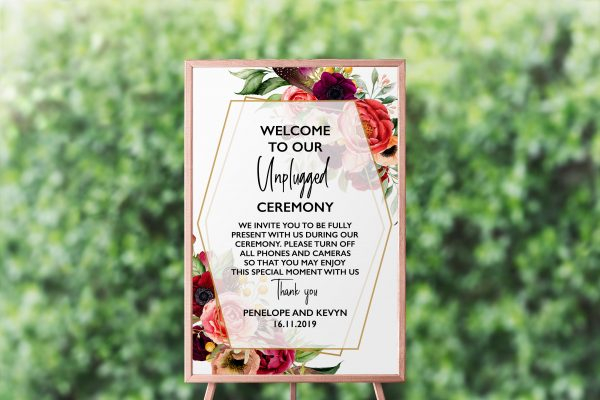Summer Posies Unplugged Sign