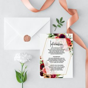 Summer Posies Information Card