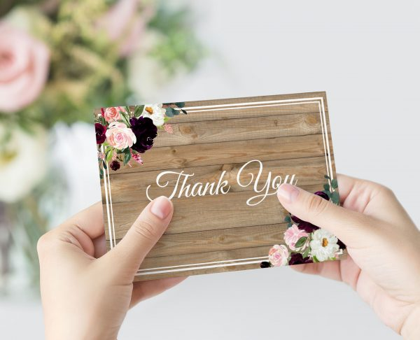 Sugar Plum Gardens Thank You Card