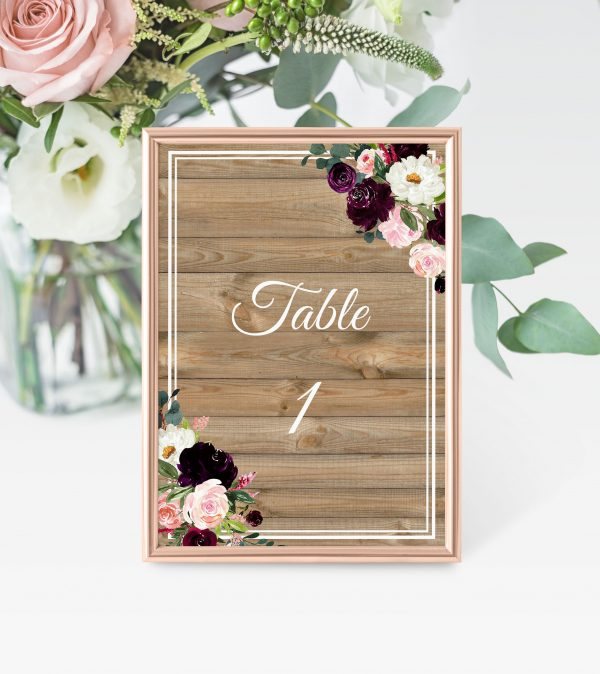 Sugar Plum Gardens Table Numbers