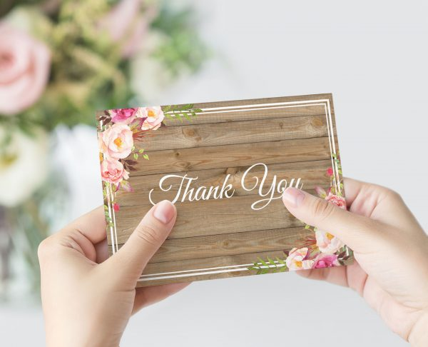 Soft Blooms Thank You Card