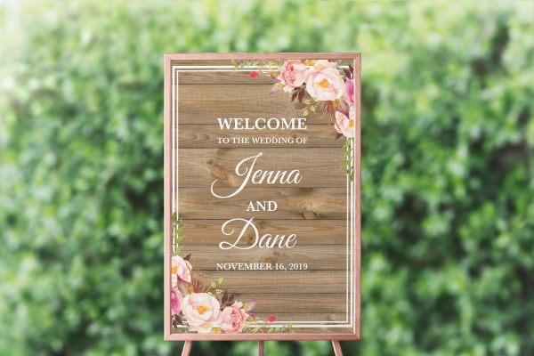 Soft Blooms Welcome Sign