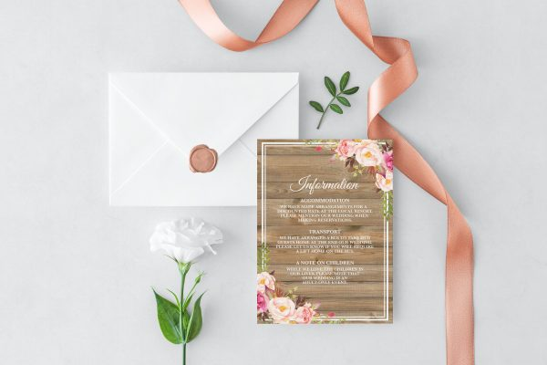 Soft Blooms Information Card