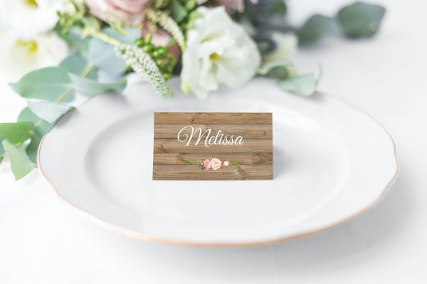 Soft Blooms Place Cards