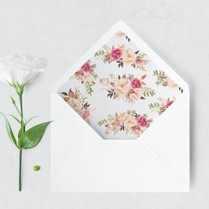 Blushing Blooms Envelope Liner