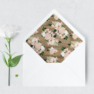 Country Hydrangeas Envelope Liner