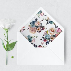 Dusty Posies Envelope Liner