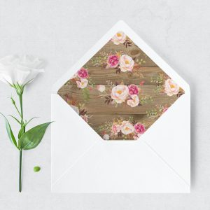 Soft Blooms Envelope Liner